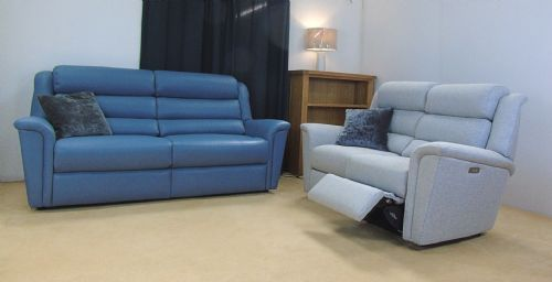 Colorado Leather 3 with Power Reclining 2 Seater Sofas